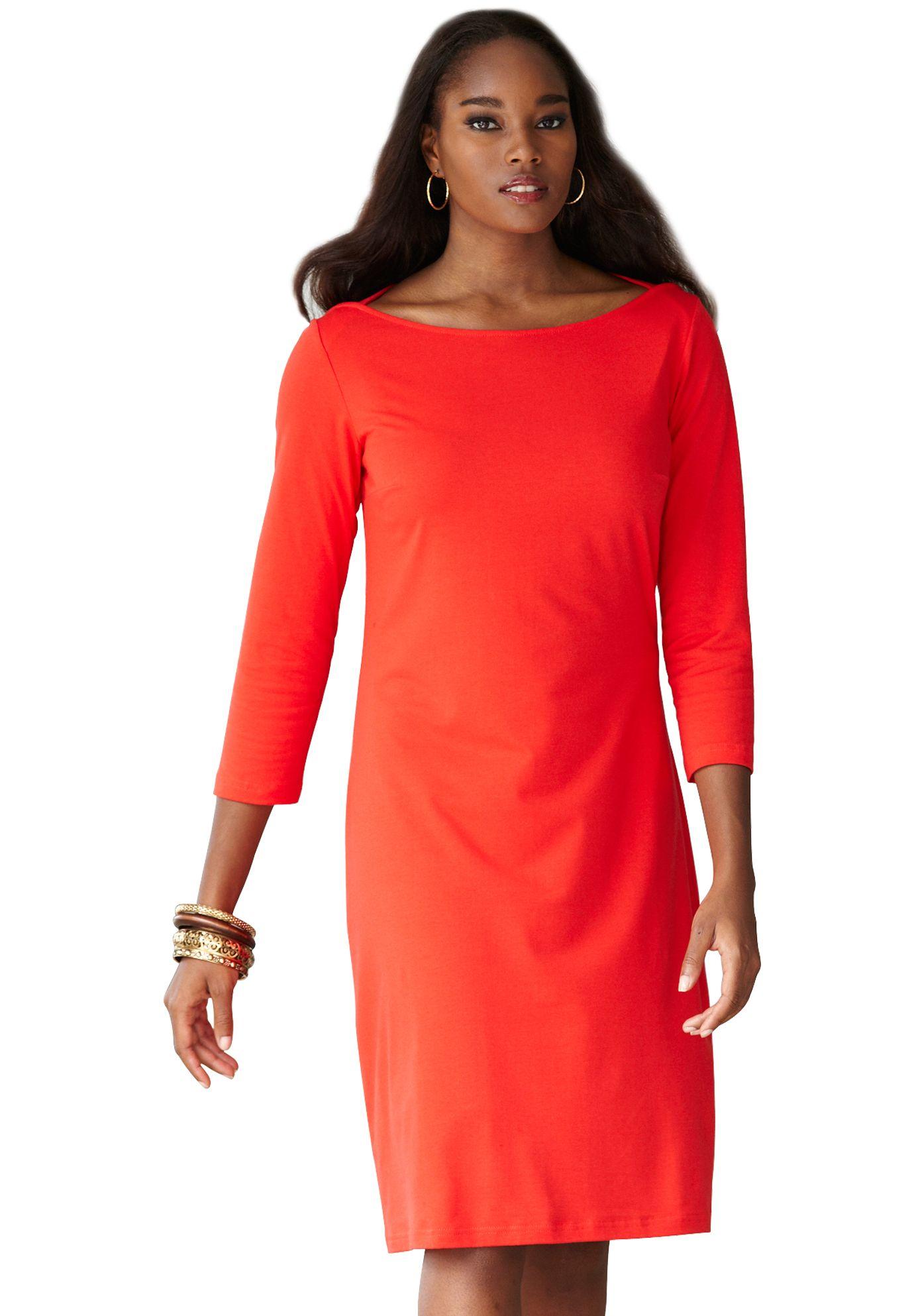 Classic Boatneck Dress Fashion Plus Size Women Pinterest Mom