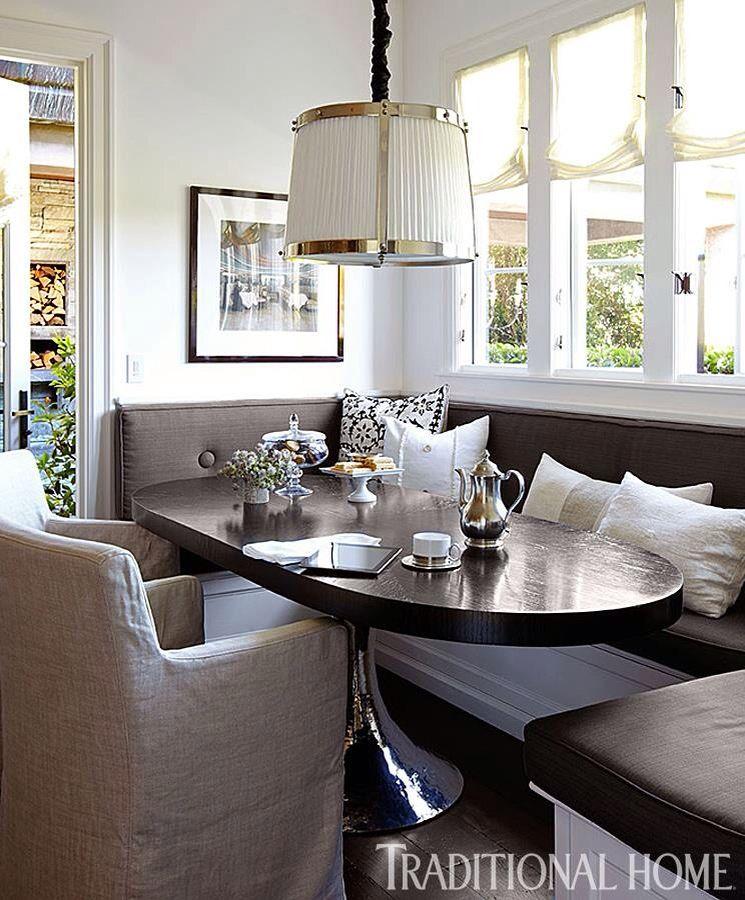 Eating Nook Dining Room Design Dark Wood Dining Table