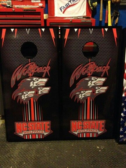 nc state wolfpack cornhole board wraps wraps by fireblade graphics and signs like us - Cornhole Board Wraps