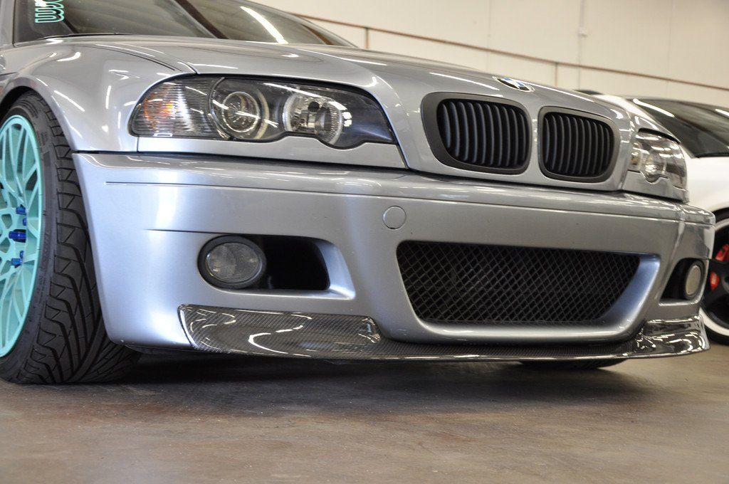 M3 BMW E46 CSL TYPE CARBON FIBER FRONT LIP SPOILER FOR BMW M3 E46 MODEL