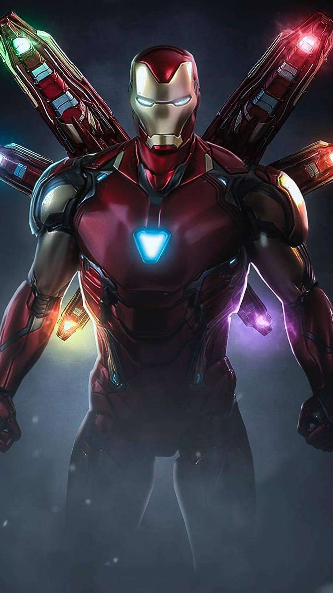 Iron Man Mark 85 Infinity Stone Armor Iphone Wallpaper Iron Man Avengers Marvel Iron Man Marvel Comics Wallpaper