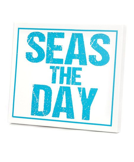 Turquoise 'Seas The Day' Wall Art