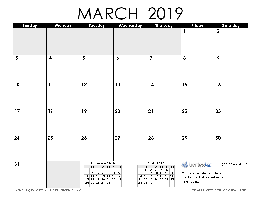 photo regarding Calendars Printable named Obtain a totally free March 2019 Calendar against