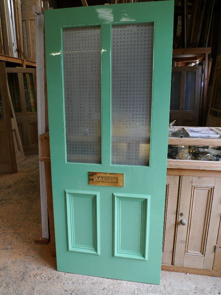 A Victorian Style 4 Panel Etched Glass Front Door - Stained Glass ...