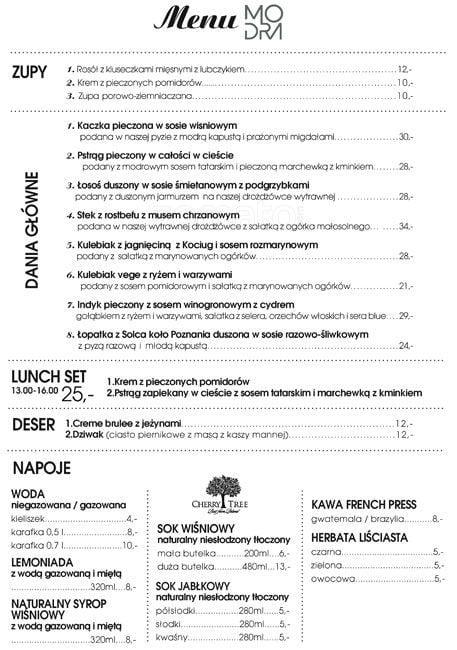 Modra Kuchnia Menu Menu Restauracji Modra Kuchnia Jezyce Poznan Gastronauci Zomato