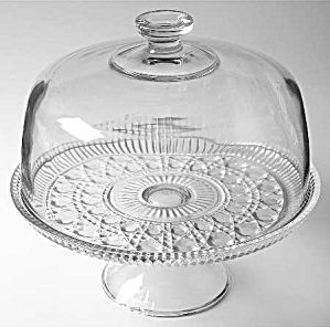 Windsor Crystal Cake Stand With Cover By Federal Glass