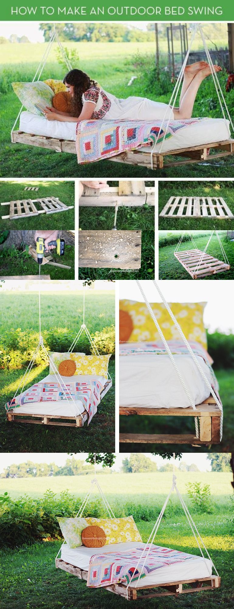 Outdoor bed tumblr - Diy Pallet Swing Bed Pictures Photos And Images For Facebook Tumblr Pinterest
