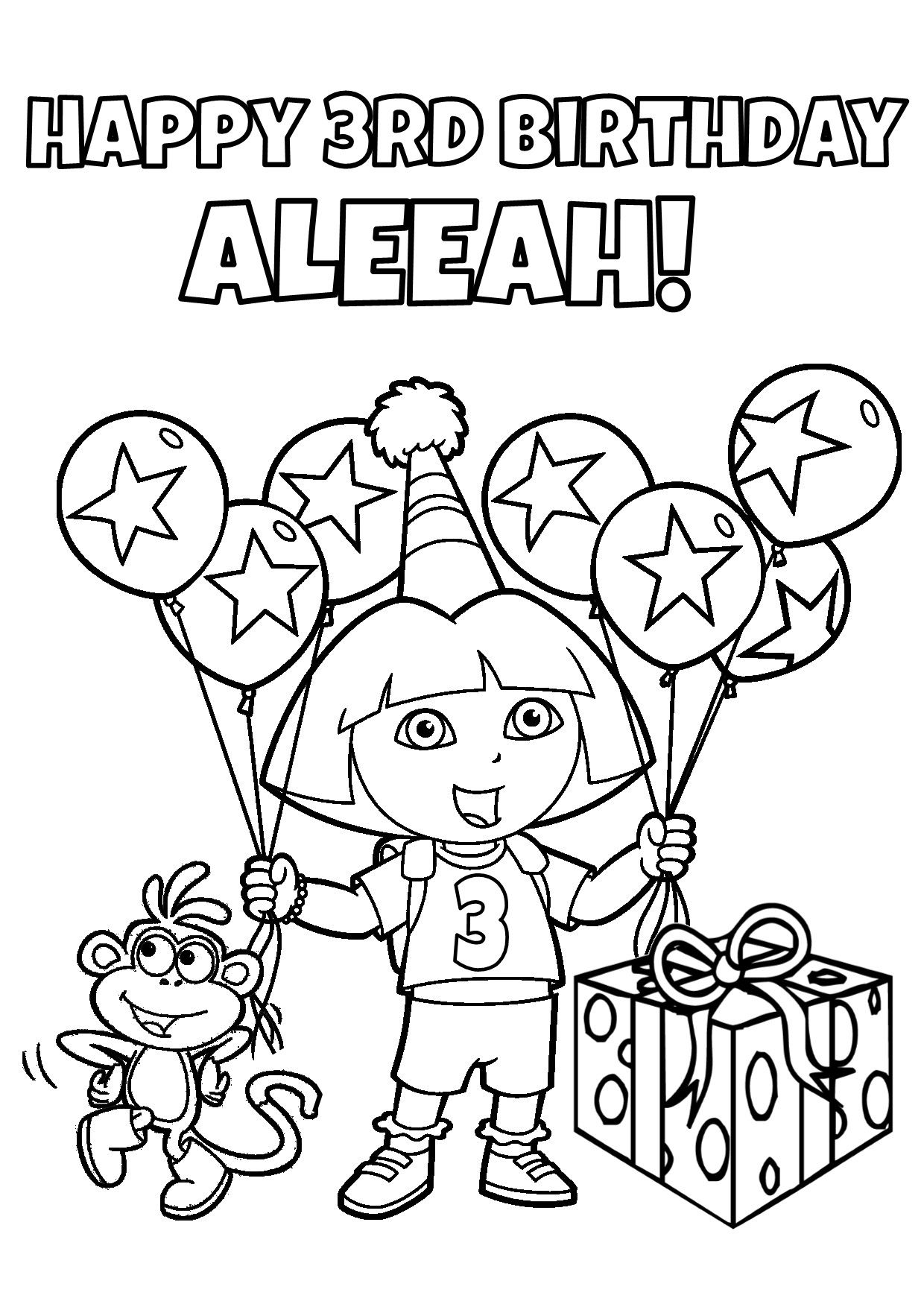 Diy Dora Birthday Party Games Unique Original And Fun Explorer Birthday Party Birthday Coloring Pages Happy Birthday Coloring Pages