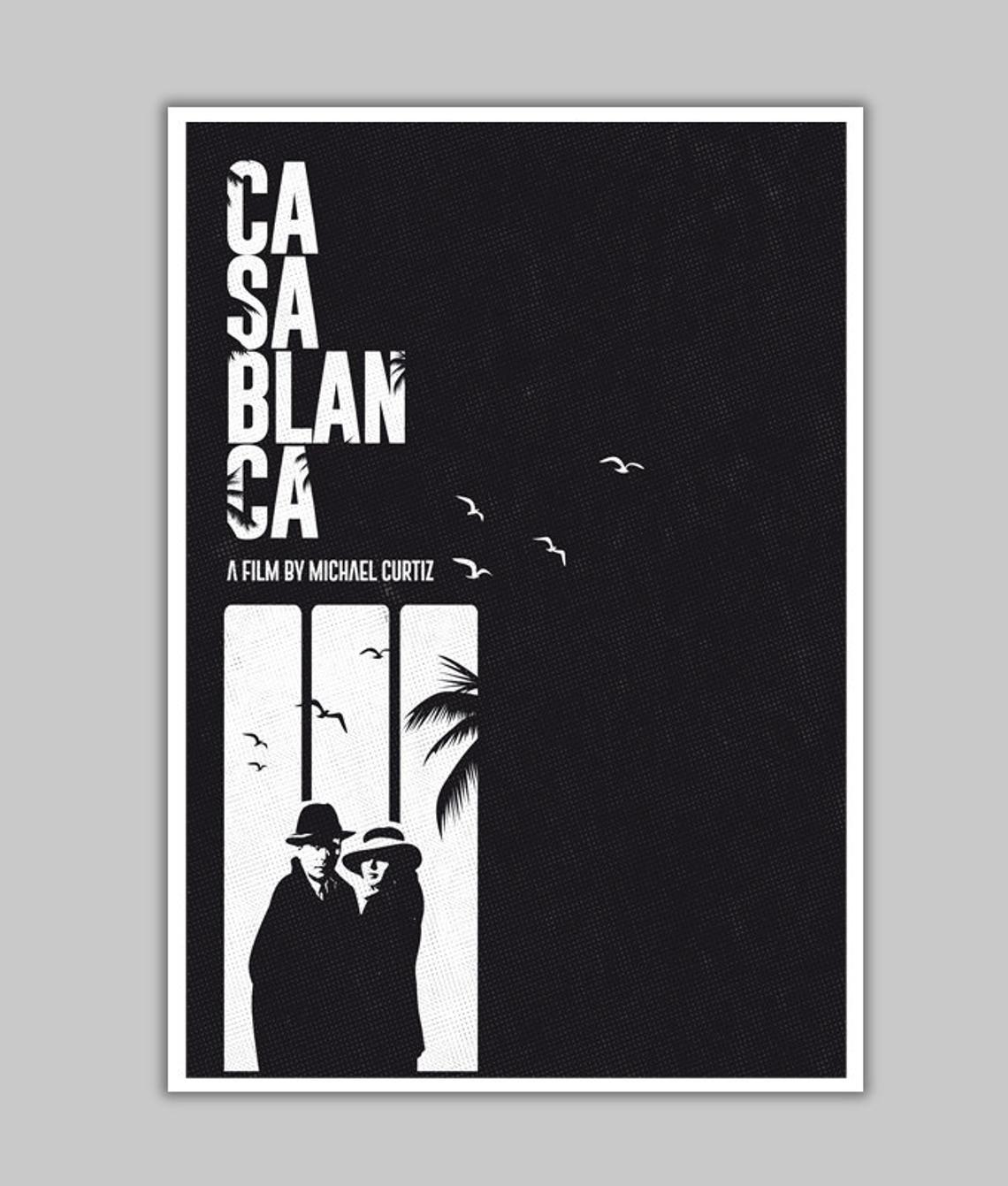 Alternative Casablanca Quote Movie Minimalist Classic Film