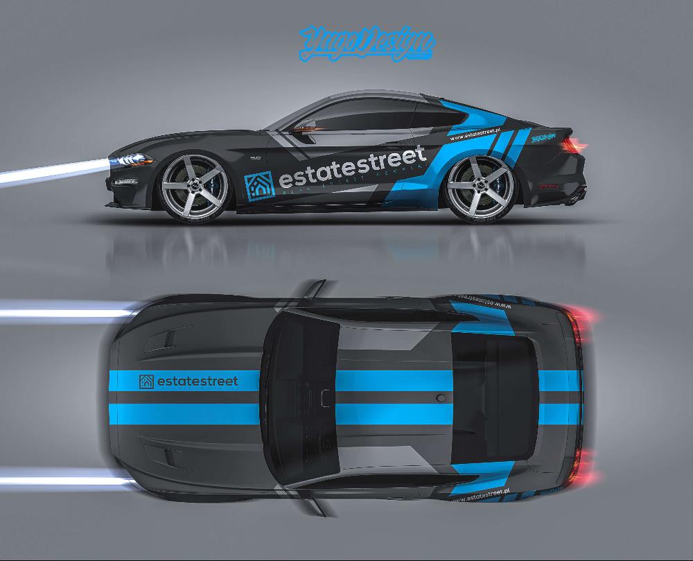 S Ford Mustang S 2015 Yago Design Ford Mustang Racing Car Design Car Sticker Design [ 809 x 1000 Pixel ]