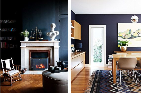 salones con paredes oscuras en tonos negros y azules paredes oscuras oscuro y saln