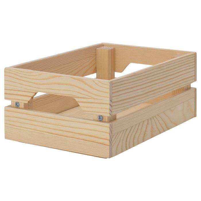 KNAGGLIG Boîte - pin 23x16x10 cm | Panier ikea, Boite de rangement, Ikea