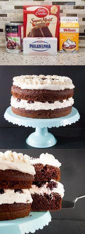 Easy Black Forest Cake – Betty Crocker's cake recipes – #Betty #Black #cake #C… – Rezeptideen