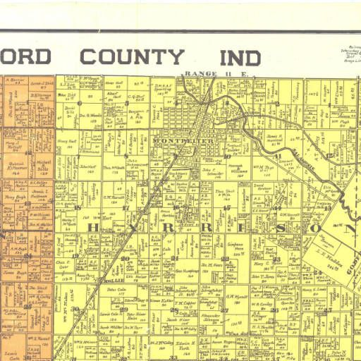 Hartford City Indiana Map.Blackford County Ind Indiana State Library Map Collection