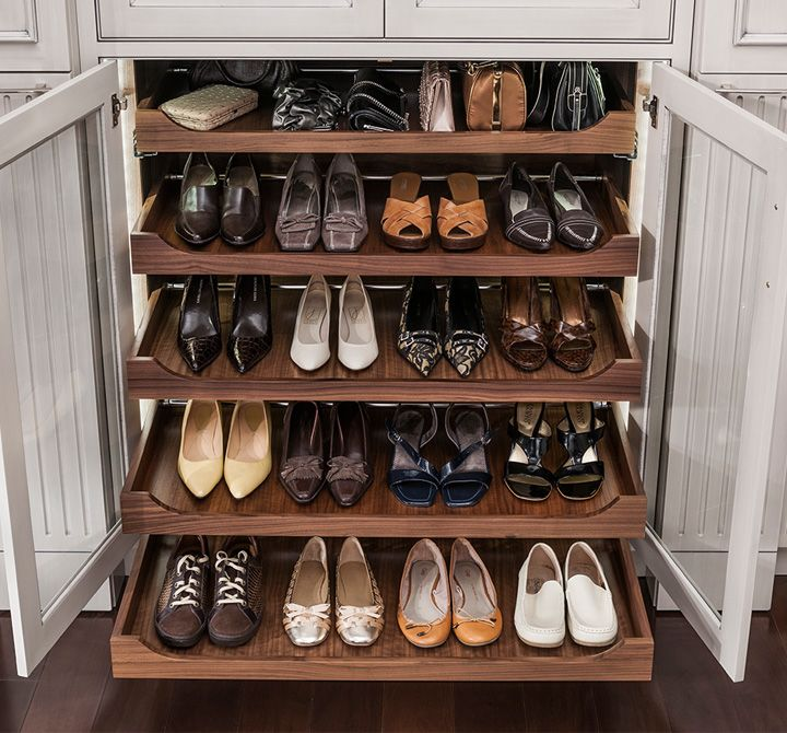 Roll Out Drawers Are For More Than Just Kitchen Storage, They Also Serve As  A Great Way To Store Shoes