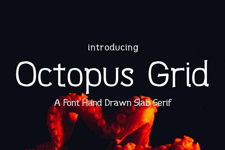 Download Octopus Grid Font | Slab serif, Slab serif fonts, Font packs