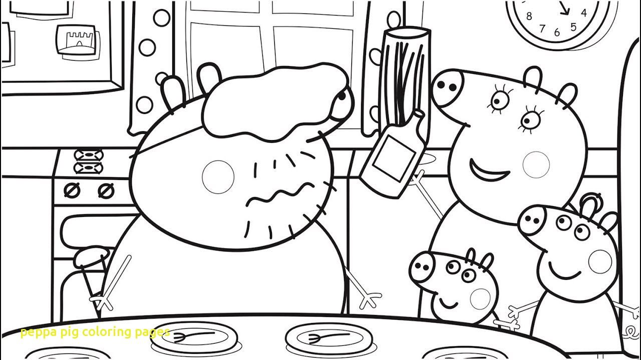 Peppa Pig Coloring Pages with Food Coloring Pages with Daddy Pig ...