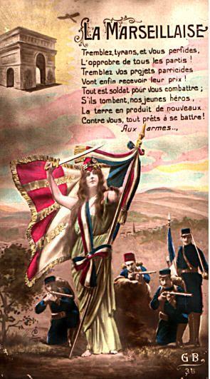 La Marseillaise Postcard