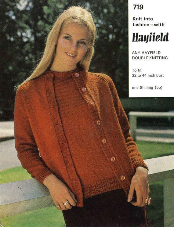 Vintage Ladies Twin Set, Knitting Pattern, 1960 (PDF) Pattern ...