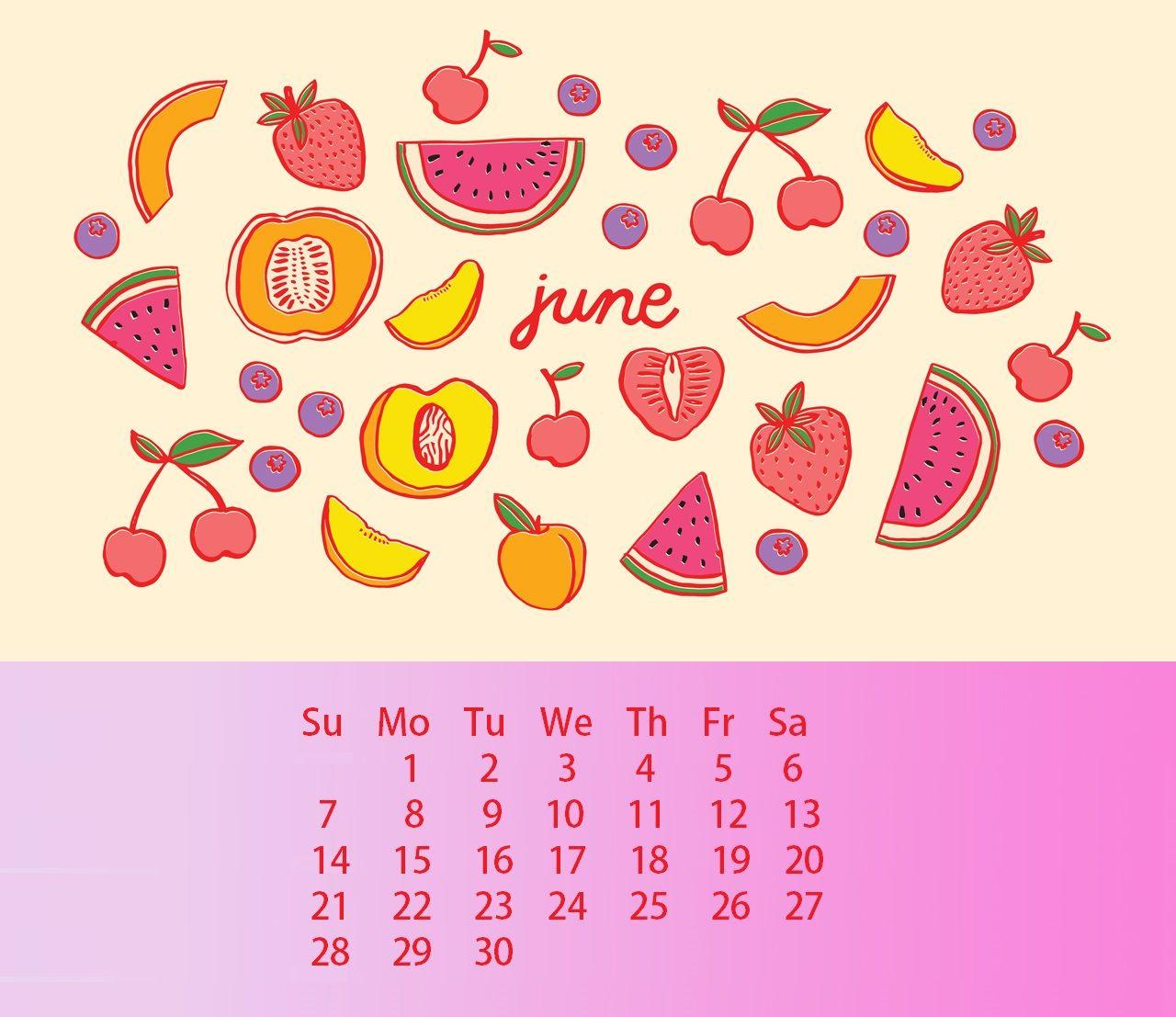 Waterproof June 2020 Calendar Wallpaper For Desktop Iphone ...