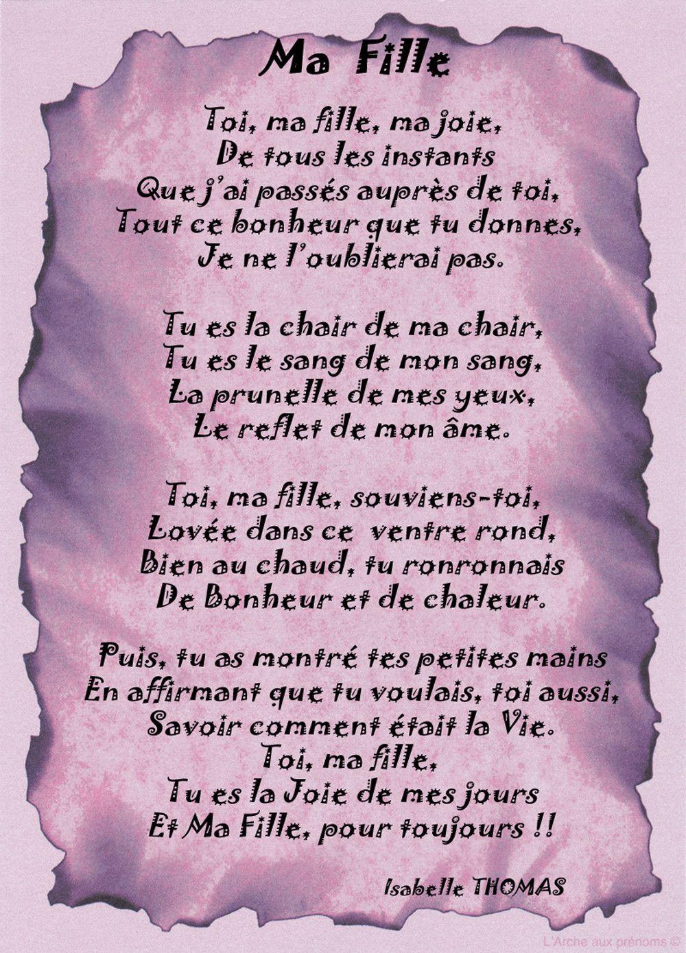 Poeme Danniversaire Pour Ma Fille Best Of Un Poème Pour Ma