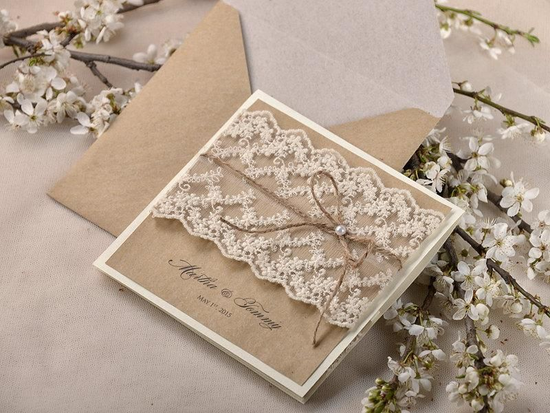rustic wedding invitations 20 wedding invitation suite lace wedding invitation pocket
