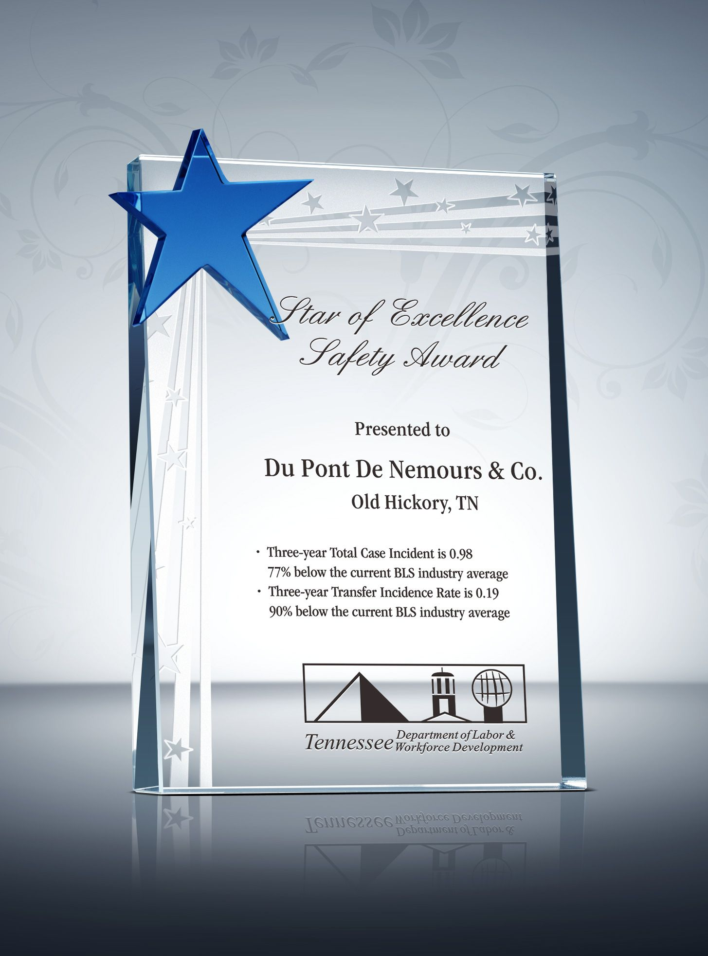 Safety Star Award Plaque  Sample Wording Ideas  Award Plaques