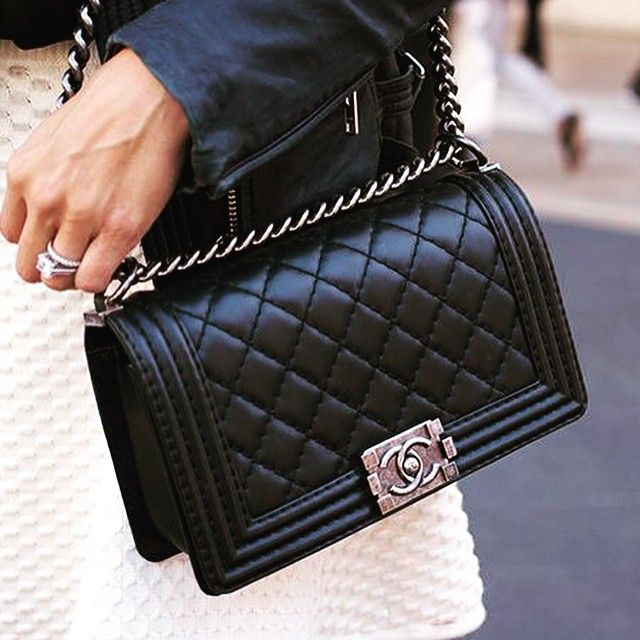907a2cf0eaca CHANEL BOY BAG BLACK Natural Leather. Made in Hong Kong. NEW with tags.  #buynow for $500