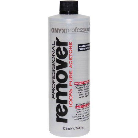 Onyx Professionals 100 Pure Acetone Nail Polish Remover 16 Fl Oz Nail Polish Remover Acetone Nail Polish