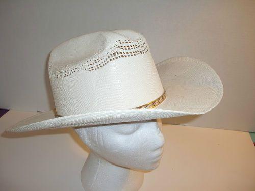 fa30d6dd Bandora Hats Cattleman Straw Bangora Western Cowboy Mens Hat Size 7 3 8 or  59 | eBay