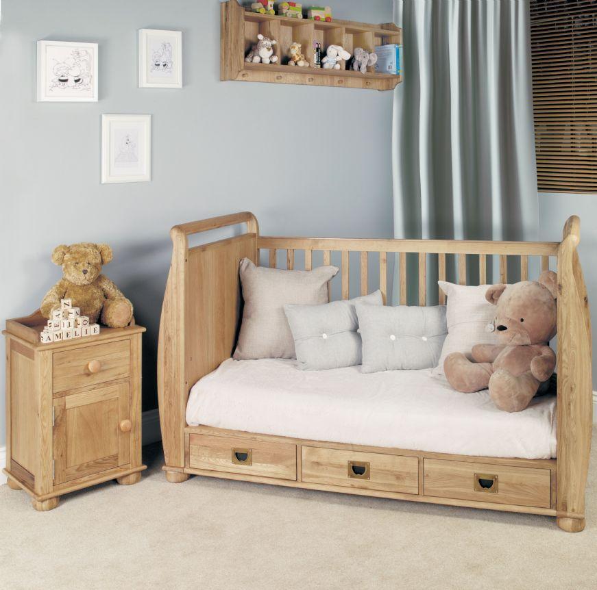 Amelie Oak Cot Bed With Drawers Luxury Nursery Furniture Kent