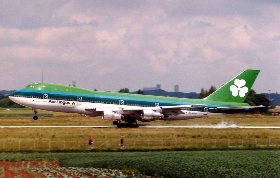 Aer Lingus 747 100 Ei Bed With Images Vintage Aircraft
