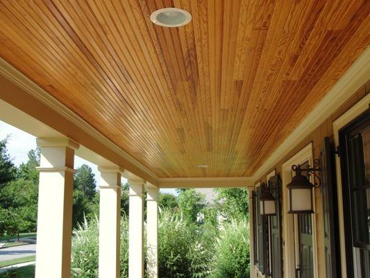 Stained Beadboard Ceiling Porch 804 282 0129 Stevenr Virginiatraditionbuilders Com 7607 Hollins Rd Porch Ceiling Beadboard Ceiling Beadboard