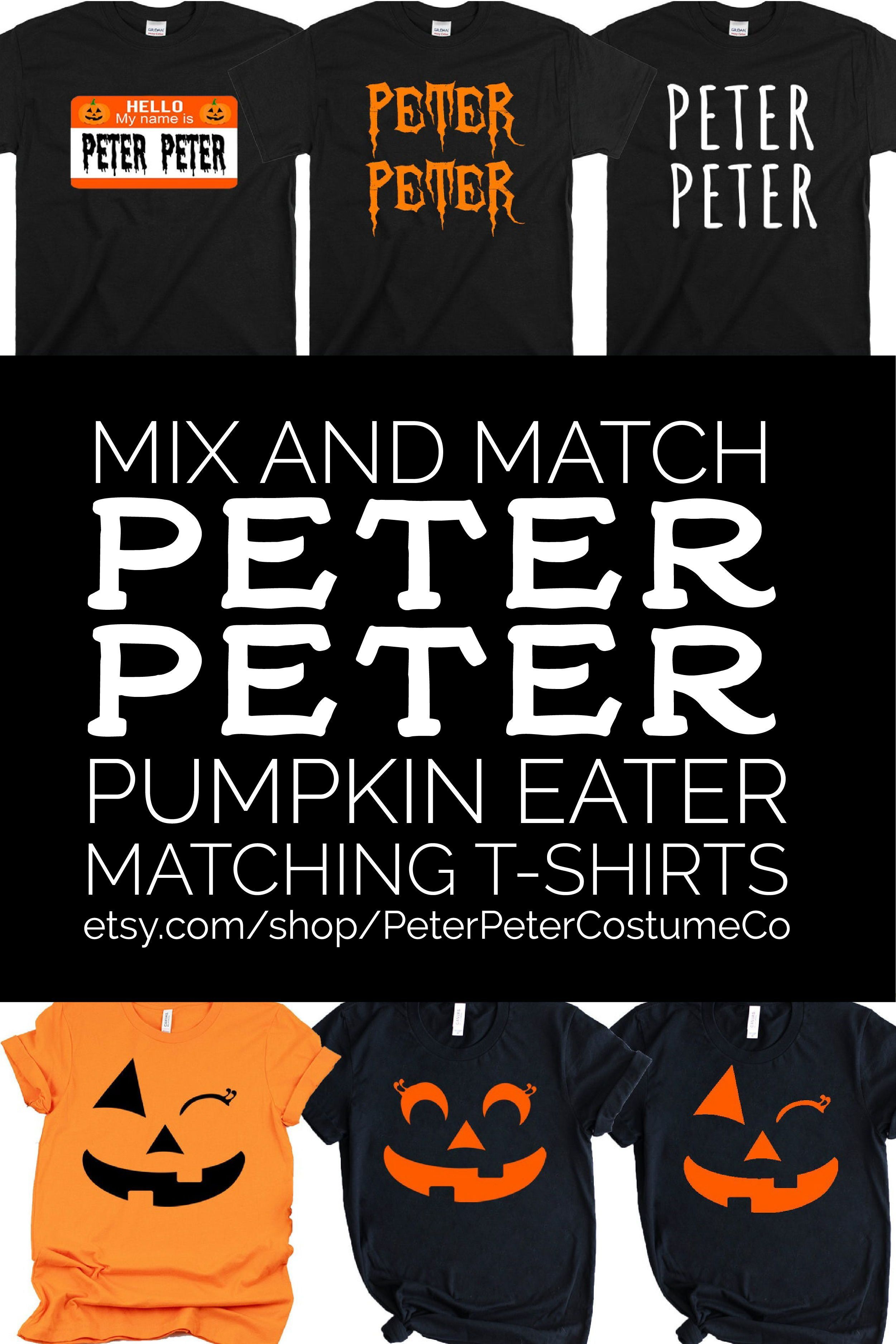Funny Peter Pumpkin Eater T-Shirt Matching Shirts for Couples