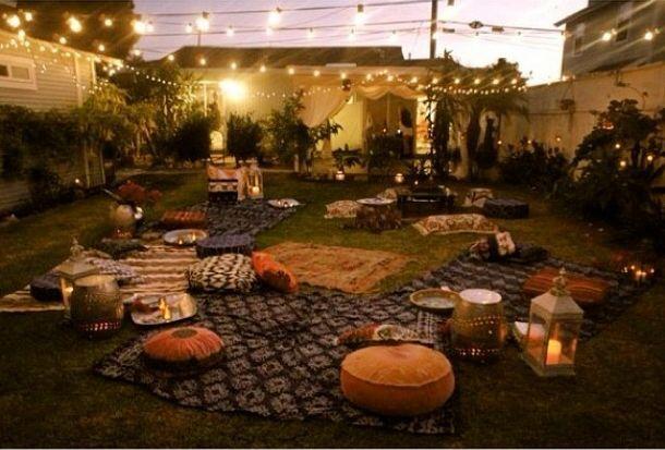 bohemian backyard Bohemian backyard party Micky\u0027s 40th