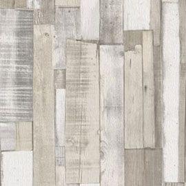 Papier peint effet planches de bois blanc gris | Papiers peints ...