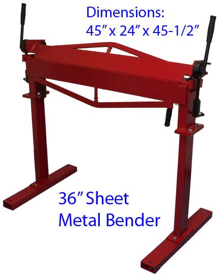 36 Brake Bender With Stand Sheet Metal Bending Plate Bender 12 Gauge Metal Bending Sheet Metal Sheet Metal Brake