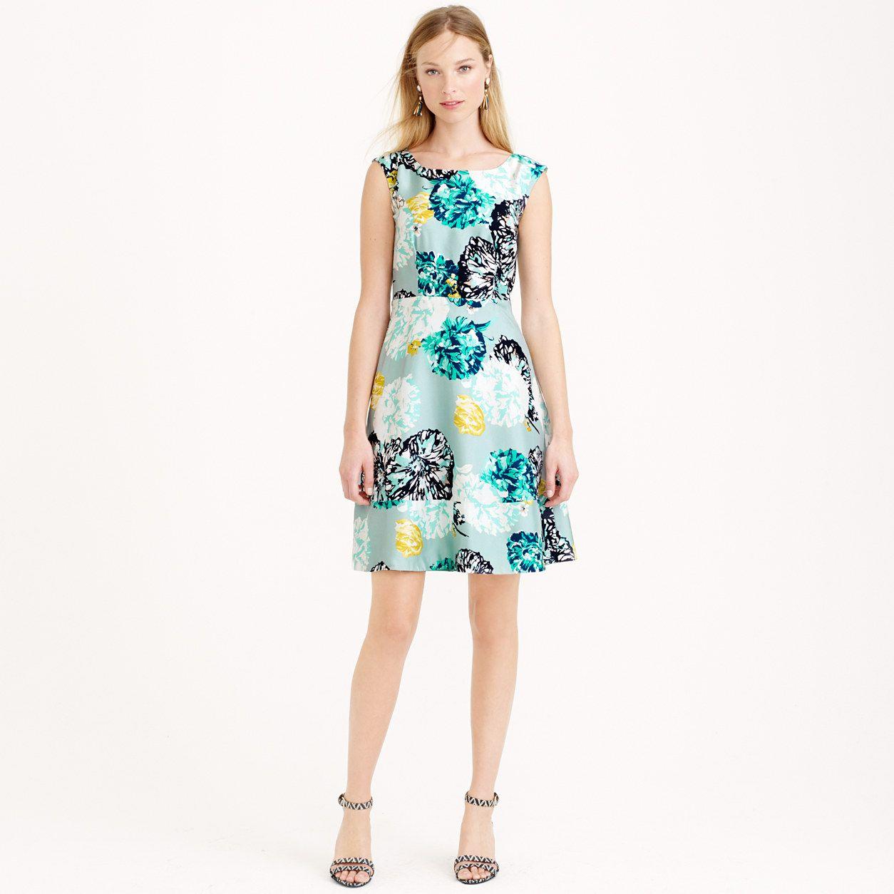 Aquatic floral silk dress day jew sewing inspiration aquatic floral silk dress day jew ombrellifo Choice Image