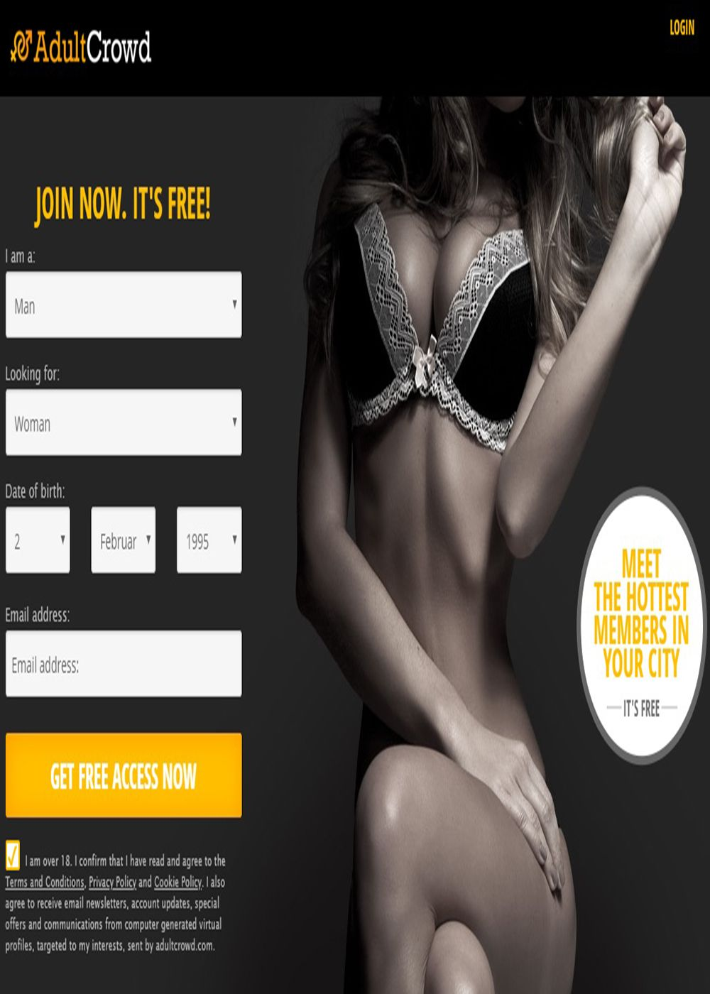 Adult crowd dating site bewertung
