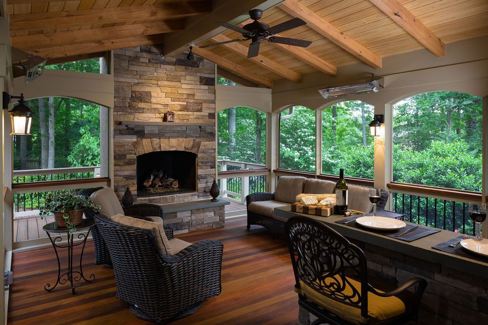 screened porch fulfills couple s desires patio modular outdoor kitchens rustic outdoor kitchens on outdoor kitchen and living space id=17814