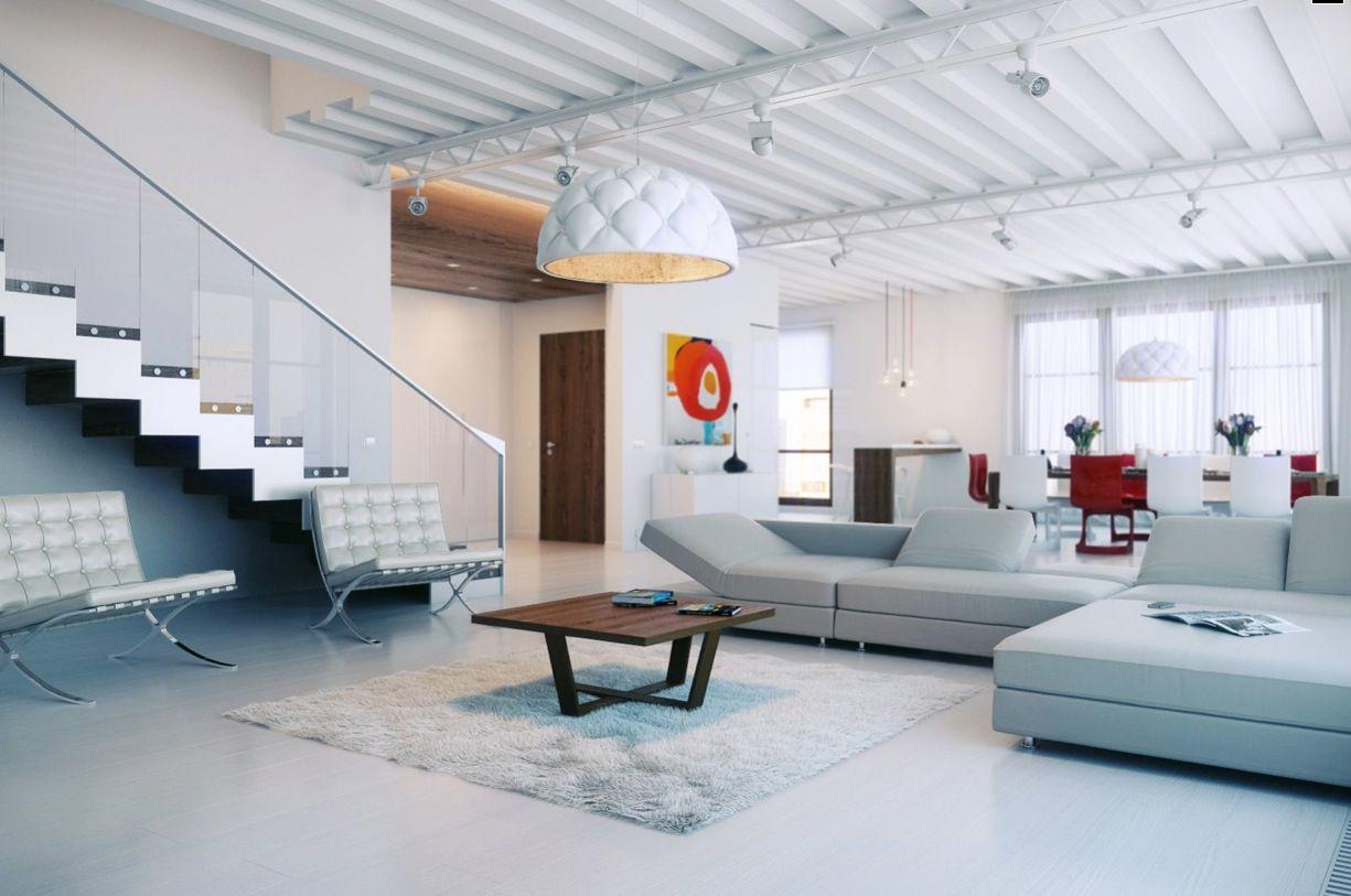 White loft bedroom ideas  Diseño de Loft Bellamente Colorido  Ideas de Decoración  Pinterest