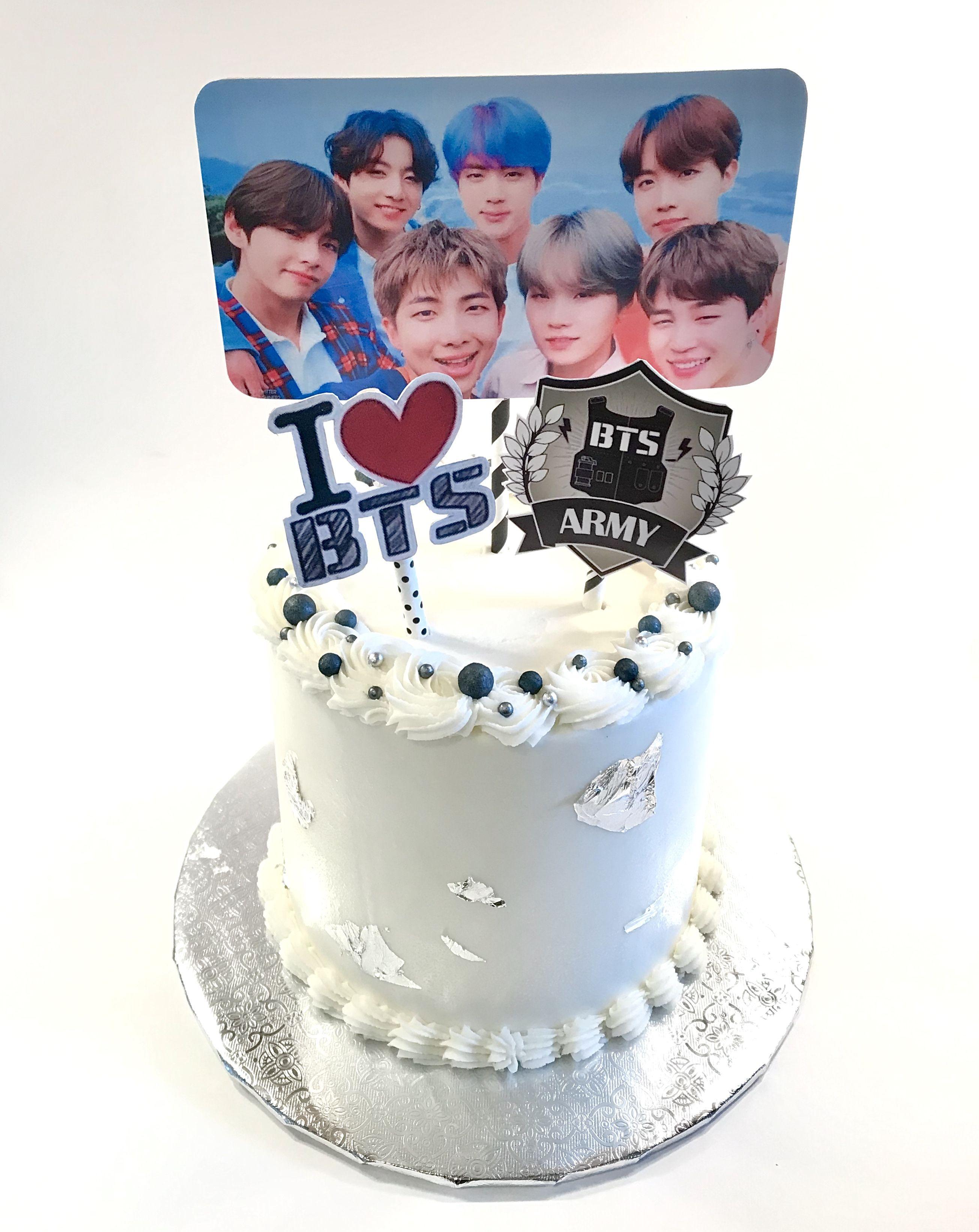 Bts Theme Birthday Cake Bts Cake Bts Birthdays Birthday Cake