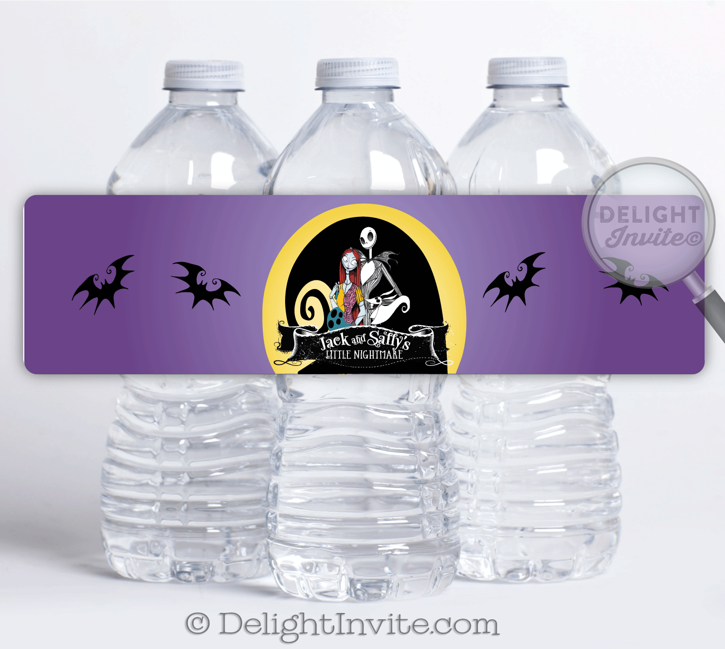 Nightmare Before Christmas Baby Shower Water Bottle Labels | Party ...