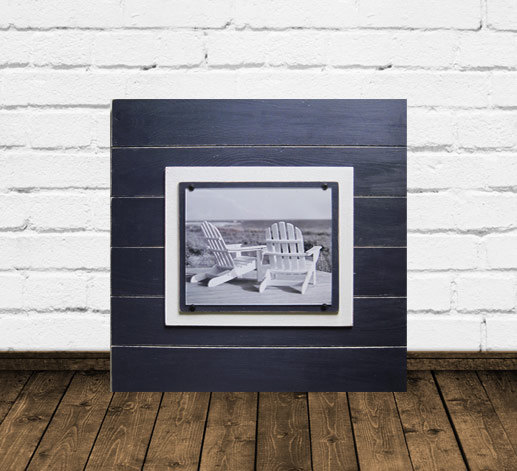 Navy Blue Distressed 8x10 Plank Frame 21x21 Nautical Frame For The