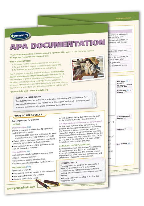 apa documentation quick reference guide pinterest american rh pinterest com Quick Reference Guide Book Training Quick Reference Guides