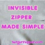 Applying invisible zipper without specific foot