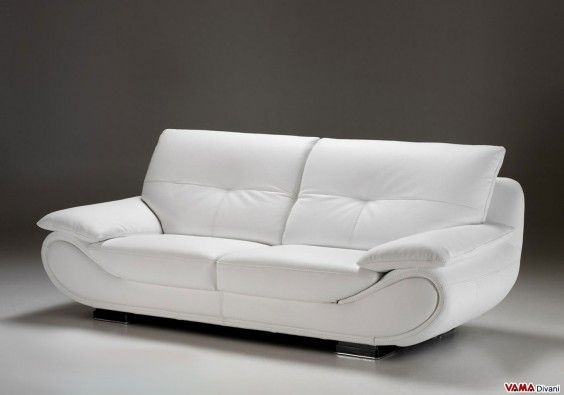 Contemporary White Leather Sofa Price And Dimensions In 2020 White Leather Sofas Leather Sofa Sofa Bed Design