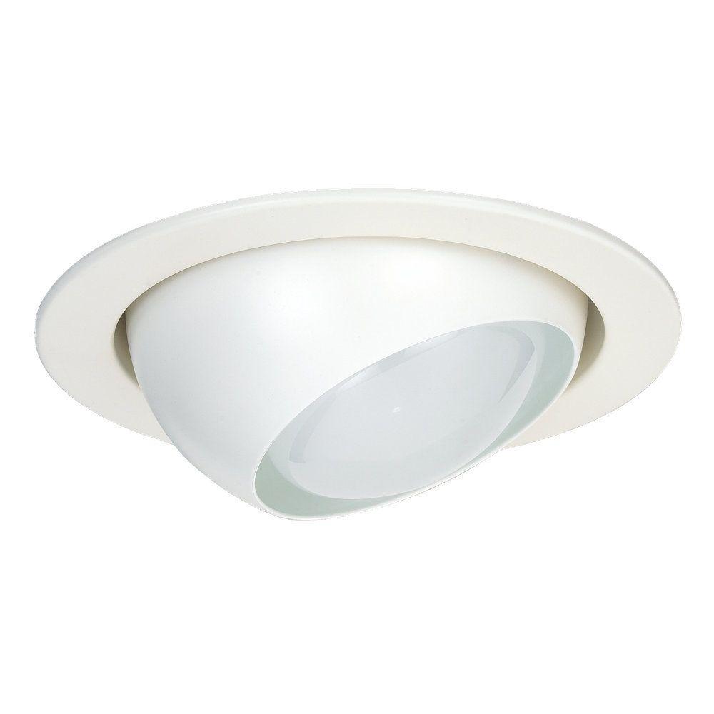 Sea Gull Lighting 4 In White Mini Recessed Eyeball Trim 1166at 15 Recessed Lighting Trim Recessed Lighting Fixtures Recessed Light Bulbs