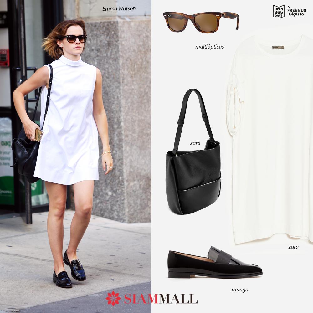#GetTheLook Copia el look de la genial #EmmaWatson ¡Consigue las mejores prendas en #SiamMall! #Moda ZARA MANGO Multiópticas
