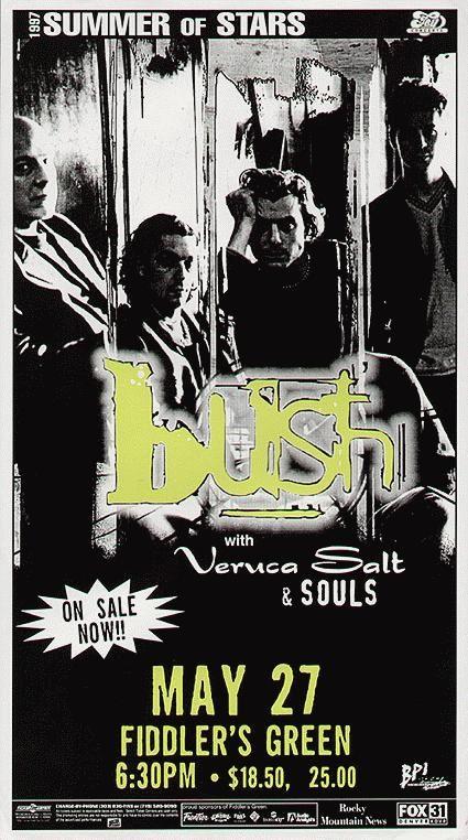 Original concert poster for Bush   Colorado Show/Venue Posters